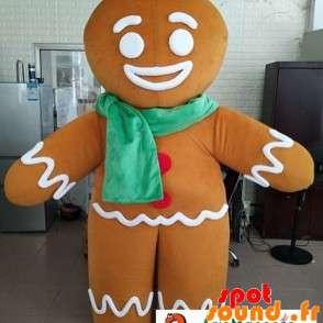 Mascotte de Ti Biscuit, personnage de Shrek avec une écharpe