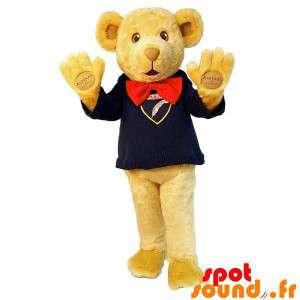Mascot beige teddybjørn med...