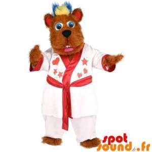 Bruine hond mascotte,...