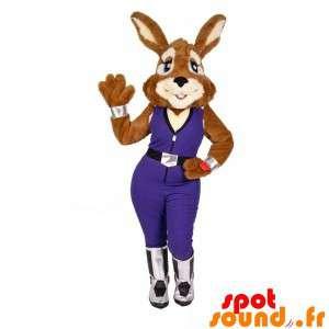 Mascot av kanin med en...