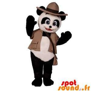 Maskot černá a bílá panda...