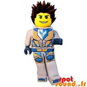 Lego maskot i superhelt outfit - Spotsound maskot