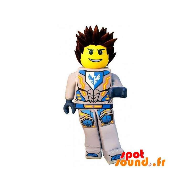 Mascotte de Lego en tenue de super-héros