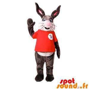 Cinza e mascote coelho...