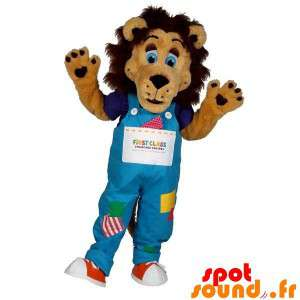 Brown Lion Mascot With A...