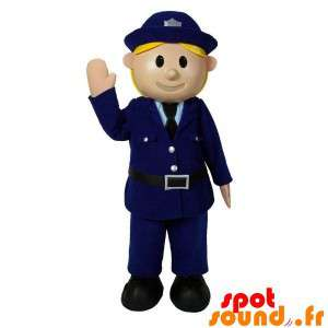 Policía Mascot en uniforme....