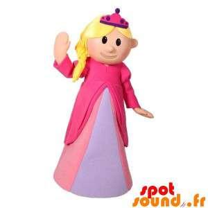 ピンクのドレスに身を包んだ金髪の王女のマスコット
