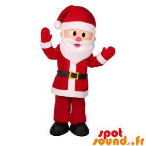Julemanden maskot, i rødt og hvidt tøj - Spotsound maskot