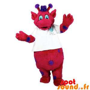Mascot Of Red And Purple...