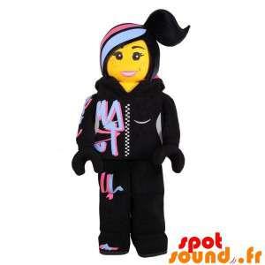 Maskot Lego žena, oblečená...