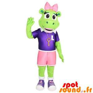 Green Frog Mascot With...