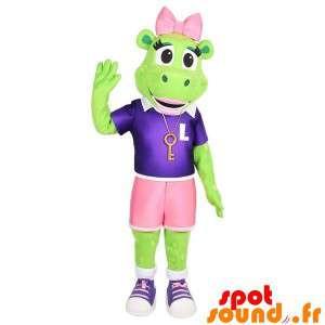 Vihreä sammakko maskotti...