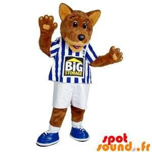 Mascot cão lobo marrom no...