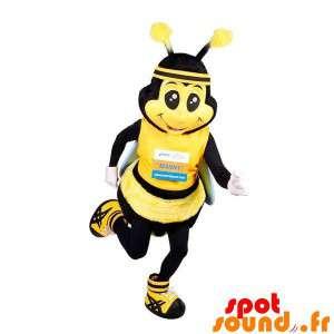 Mascot gigantische gele en...