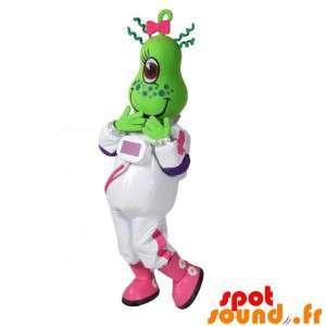 Green Alien Mascot In...