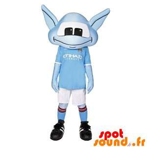 Blue Alien Mascot With A...