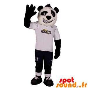 Maskot černá a bílá panda,...