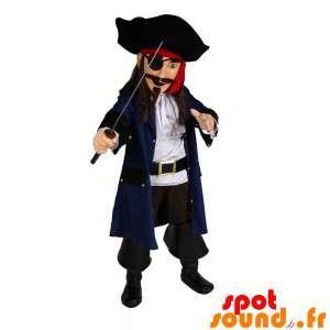 伝統的なドレスで海賊のマスコット
