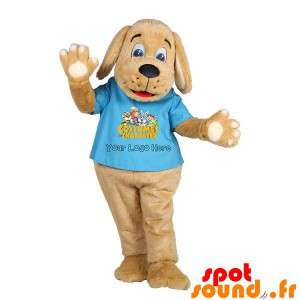 Brown Dog Mascot Puppy With...