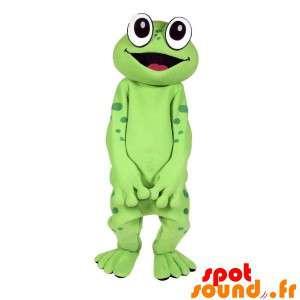 Mascot groene kikker, erg...
