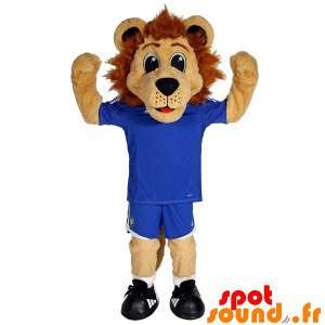 Brown Lion Mascot Dressed...