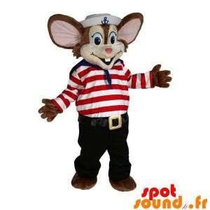 Ruskea hiiri maskotti...