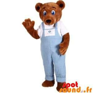 Brown Teddy Mascot Wearing...