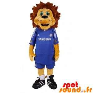 Mascotte de lion marron...