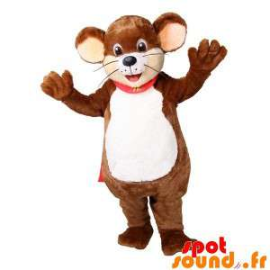 Mascot iso hiiri ruskea ja...
