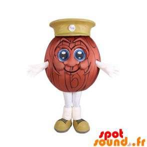 Ball Mascot Bowling Ball med en cap
