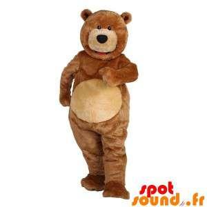 Maskot big bear brunbjørn....