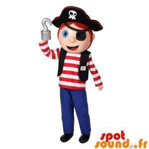 Drengemaskot i pirattøj. Pirat maskot - Spotsound maskot