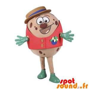 Mascot Runde mit einem Hut...