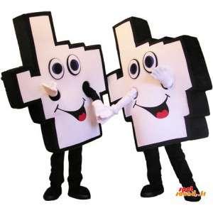 2 Hand mascots...