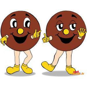 2 mascots Riese Cookies. 2...