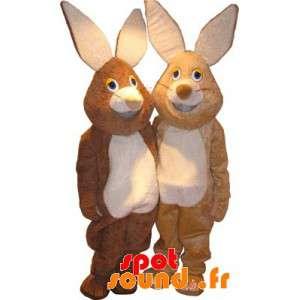 2 mascotes coelhos,...