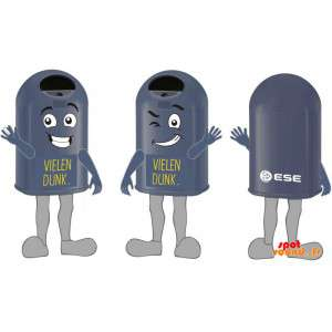 Mascots Black Bins, Giant And Funny