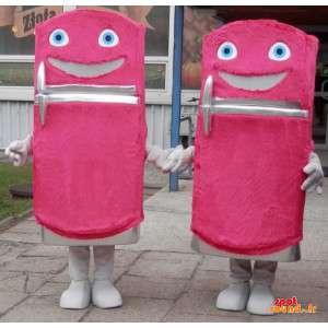 2 jääkaappi maskotteja,...