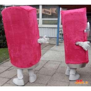 2 kjøleskap maskoter, distributører roser, søt og morsom