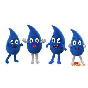 4 maskoter gigantiske blå...