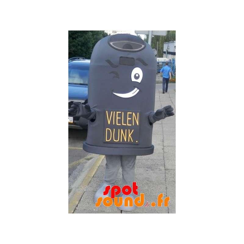 Mascot Giant Black Bin. Dumpster Cosume