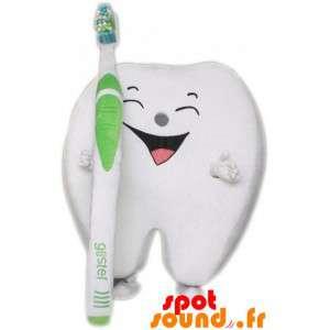 Giant White Tooth Mascot...