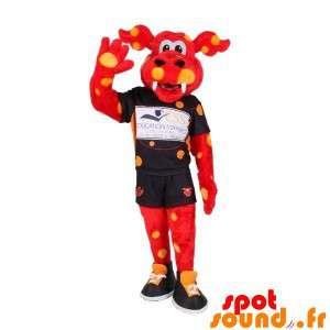 Red Dragon Mascot Yellow...