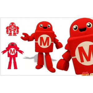 赤と白のロボットマスコット。新技術