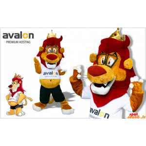 Mascot Red And Yellow Lion...