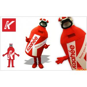 マスコット巨大な赤と白のボトル