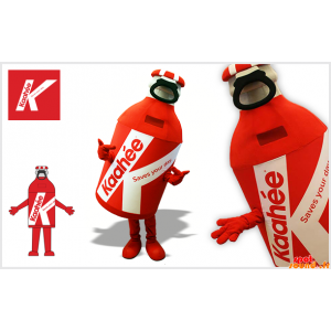 Mascot riesige rote und...