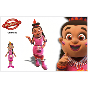 Female Mascot, An Indian...