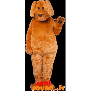 Brun och svart hundmaskot, jätte - Spotsound maskot