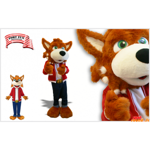 Wolf Mascot, ruskea koira...